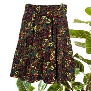 Revival Cotton Bright Print Circle Skirt Size 10